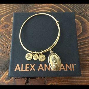 Alex and Ani Pineapple Charm Bracelet Gold